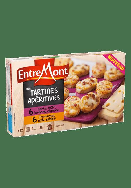 Tartines Cantal et Emmental