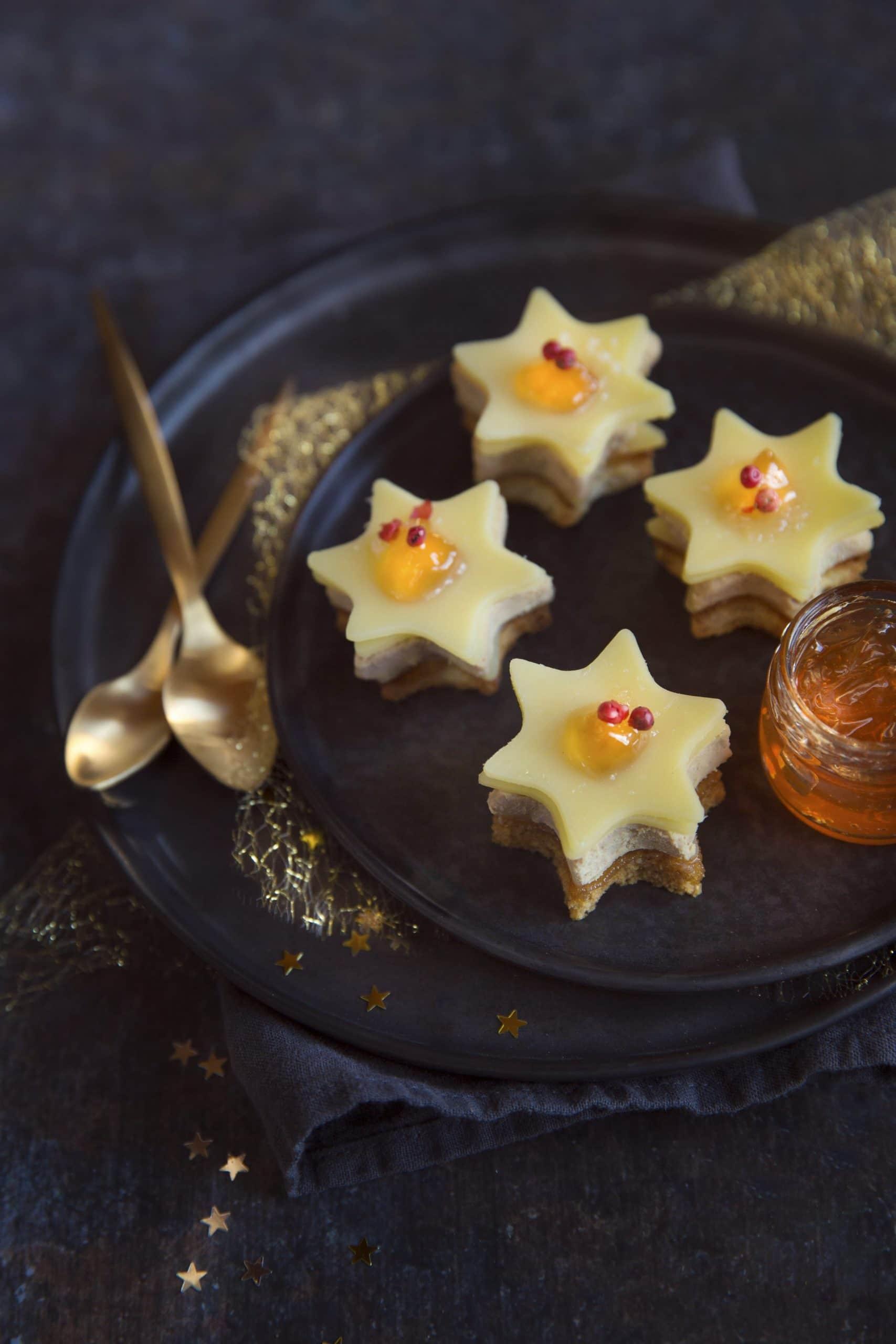 Foie gras and Entremont Saint Mont des Alpes cheese stars