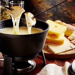Fondue au fromage accompagnements