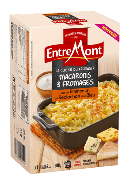 Macaronis trois fromages Entremont.