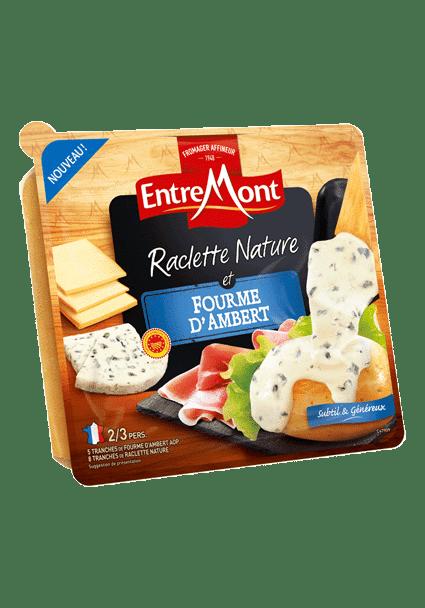 Raclette et fourme d'ambert.