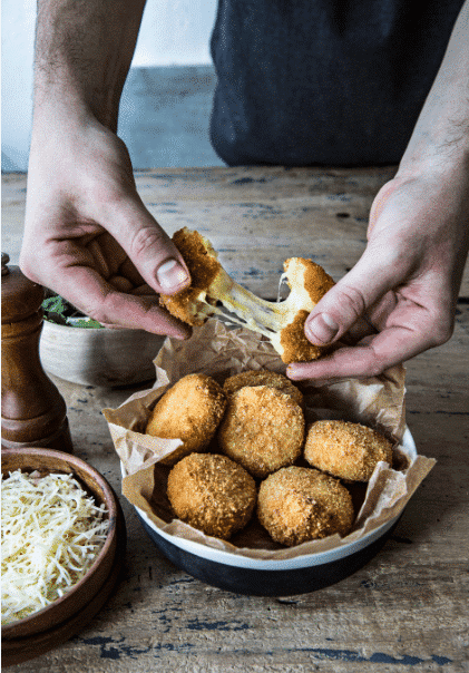 Gourmet Entremont Emmental cheese croquettes potatoes