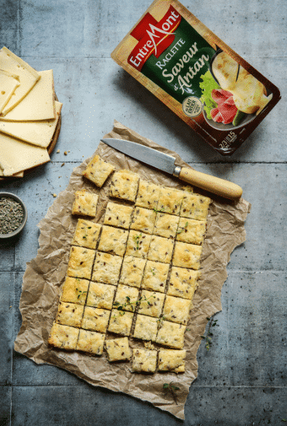 Entremont Antan cheese Raclette cookie