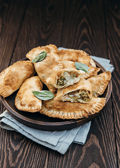 Broccoli and Emmental cheese panzerotti