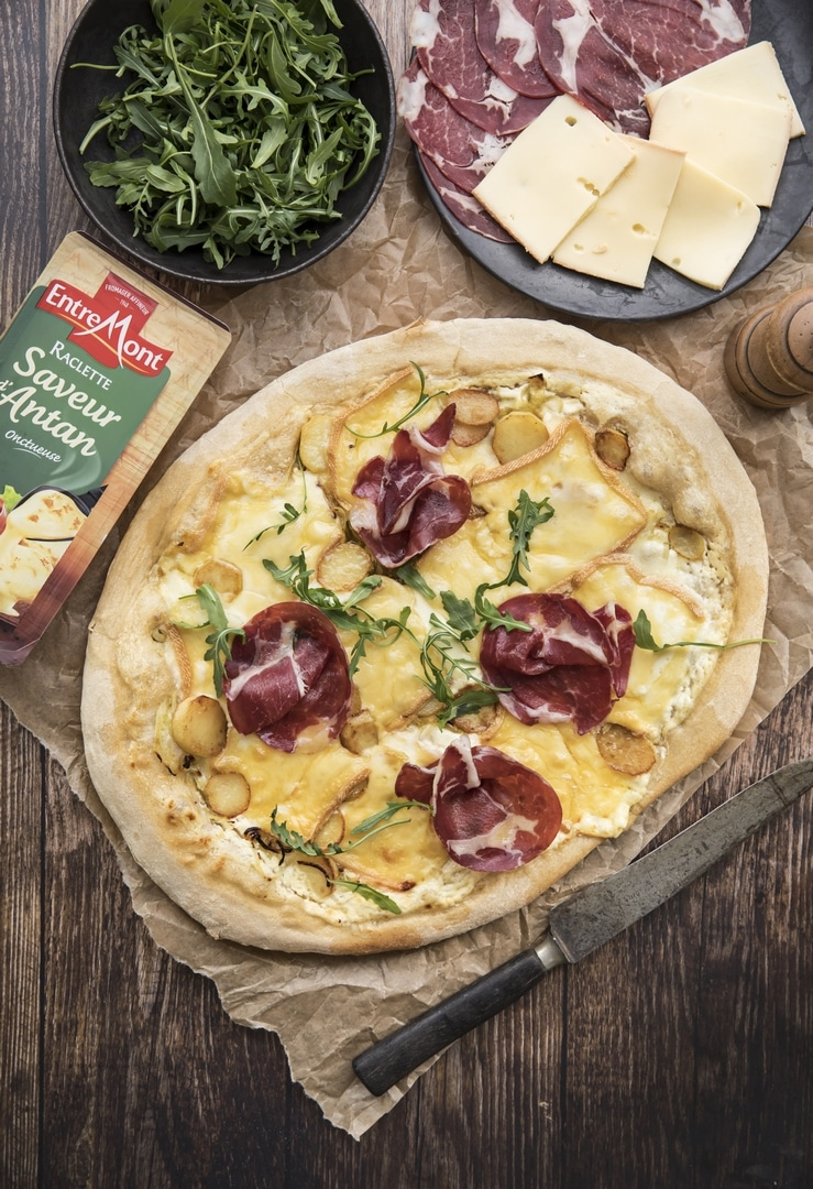 Entremont Raclette cheese pizza