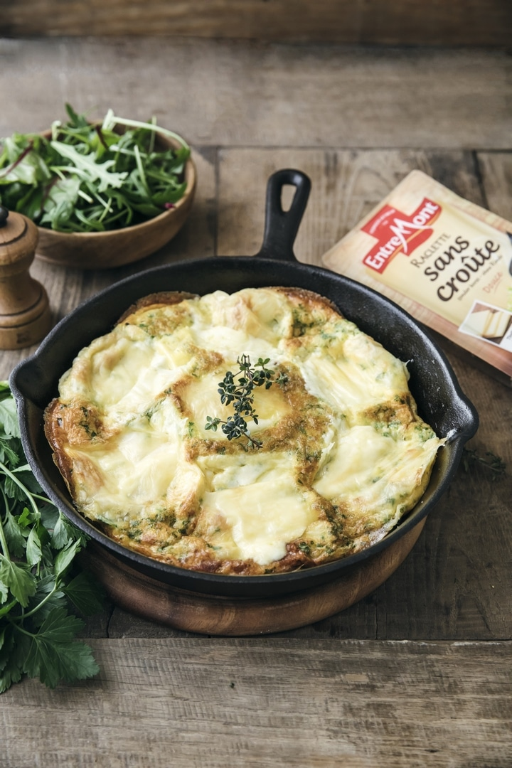 Entremont Raclette cheese frittata