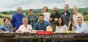 """Photo des collaborateurs filmés """"ils travaillent tous pour Entremont""""."""