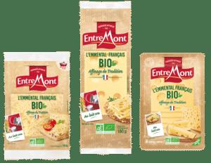 Fromages Entremont de la gamme bio.
