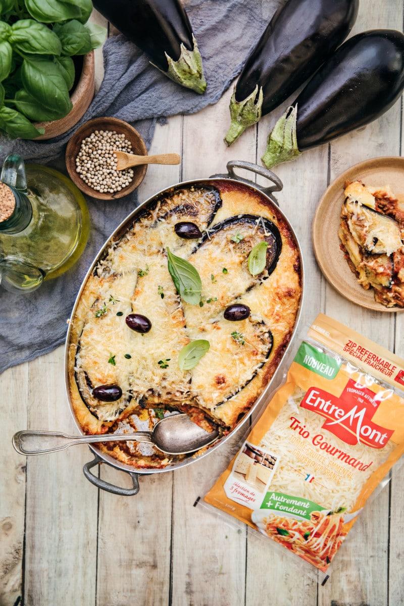 Lasagnes aux aubergines et au Trio Gourmand Entremont