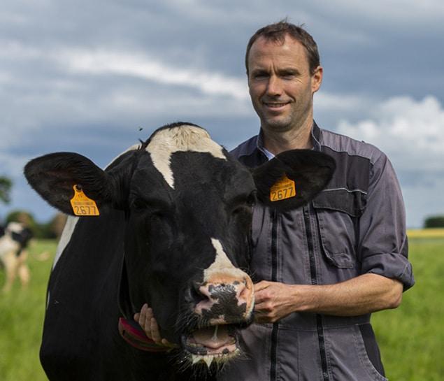 Pierre-Maire, un producteur de lait heureux chez Entremont