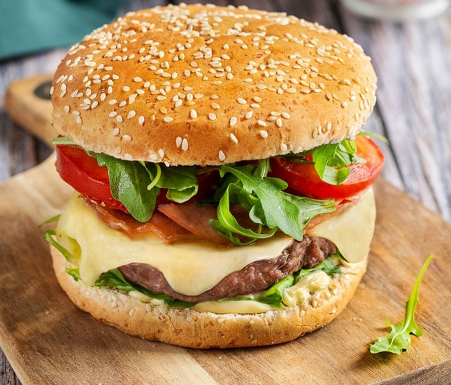 Burger au Comté Entremont.
