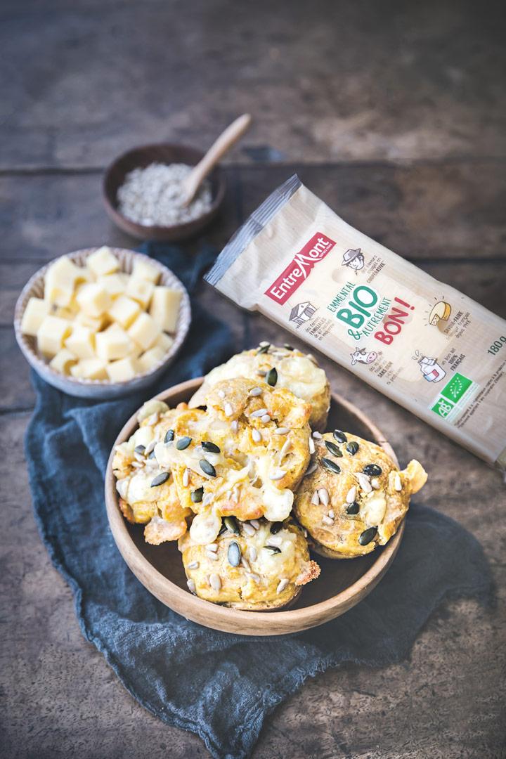 Muffins aux carottes et emmental BIO Entremont