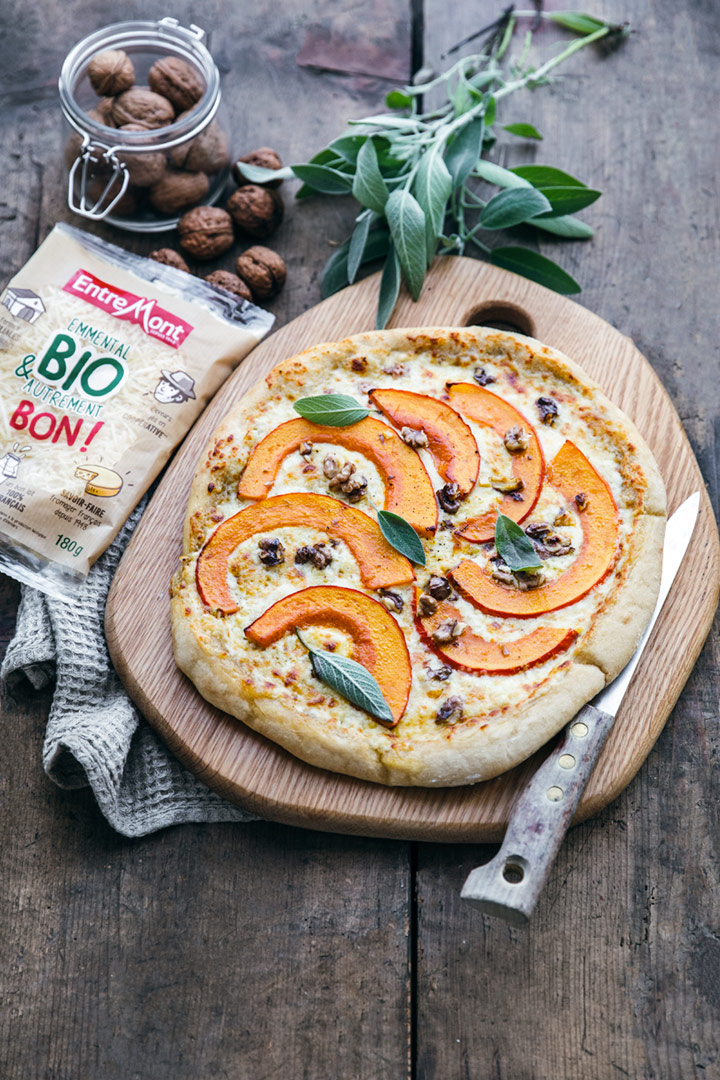 Pizza potimarron et crème de râpé BIO